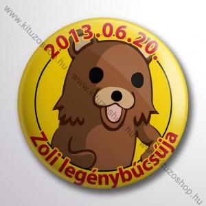 Pedo Bear Legénybucsu Kitűző