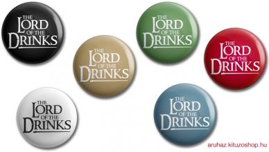 The Lord Of The Drinks kitűző legénybúcsúra