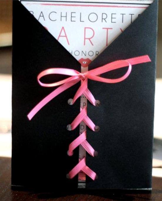 Lánybúcsú meghívó csomagolás