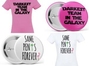 2021-es lánybúcsú kitűző és póló kollekció